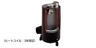 温水を安定供給するボイラー