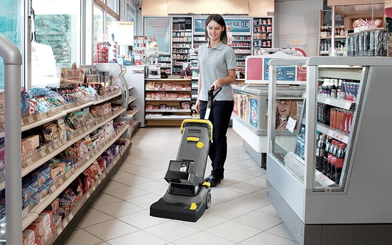 コンビニや店舗の床洗浄が可能な画像