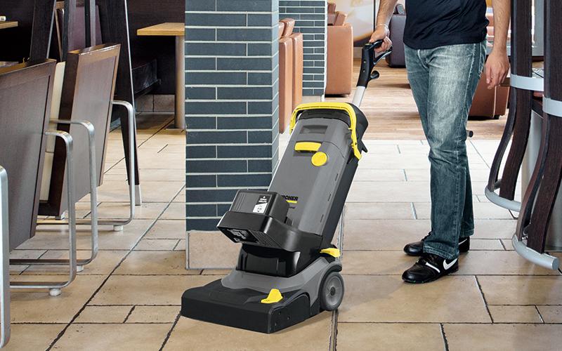 レストランやファストフード店の床洗浄が可能な画像
