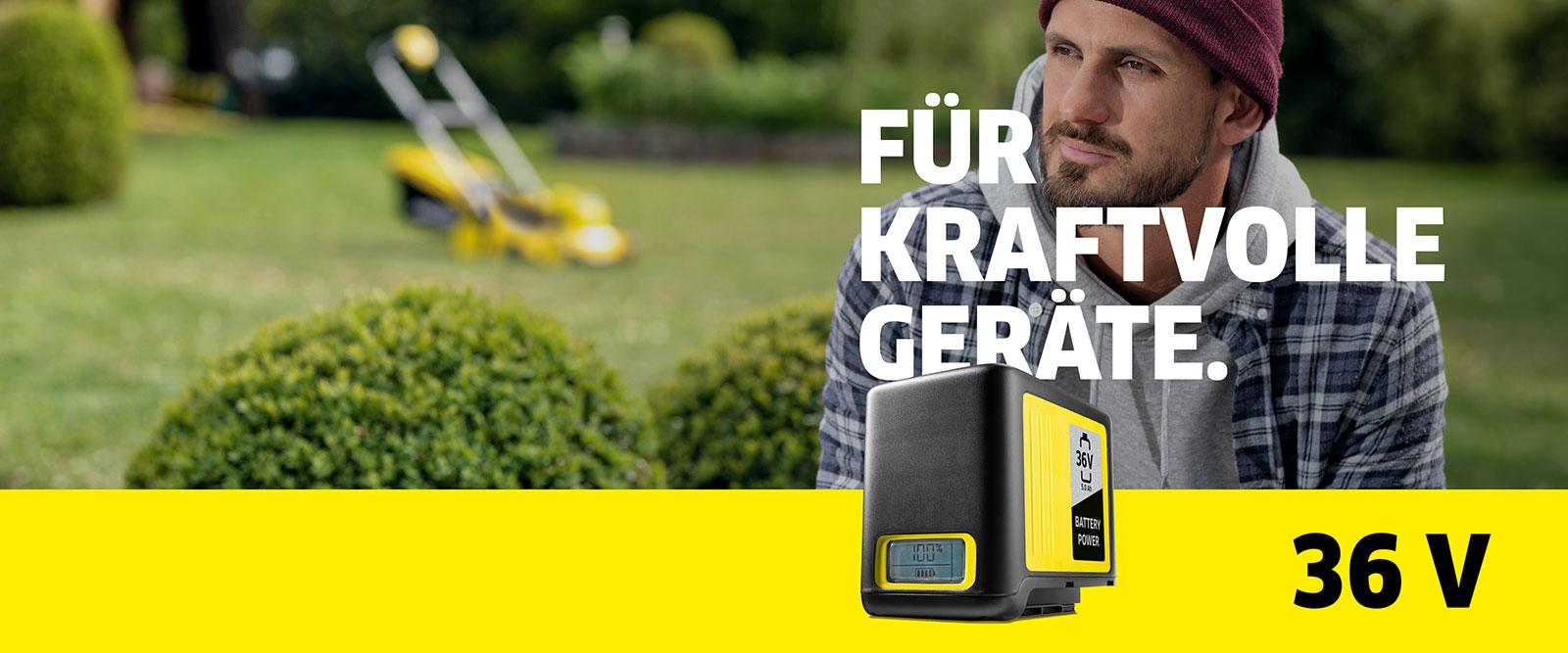 36 V Kärcher Battery Power-Akkuplattform: für kraftvolle Geräte