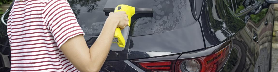 洗車後の水滴取りイメージ