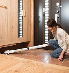 玄関の床掃除