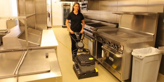 Greasy Kitchen Floor Scrubber