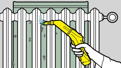 очистка радиаторов отопления с помощью пароочистителя