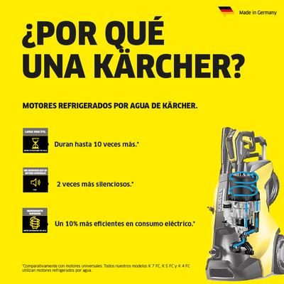 "Karcher K7 chorro de agua de lavado 3 Boquillas compatible//escoba Accesorio 12/"""