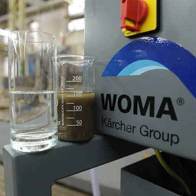WTA Eco - Water treatment for water jet cutting | WOMA GmbH