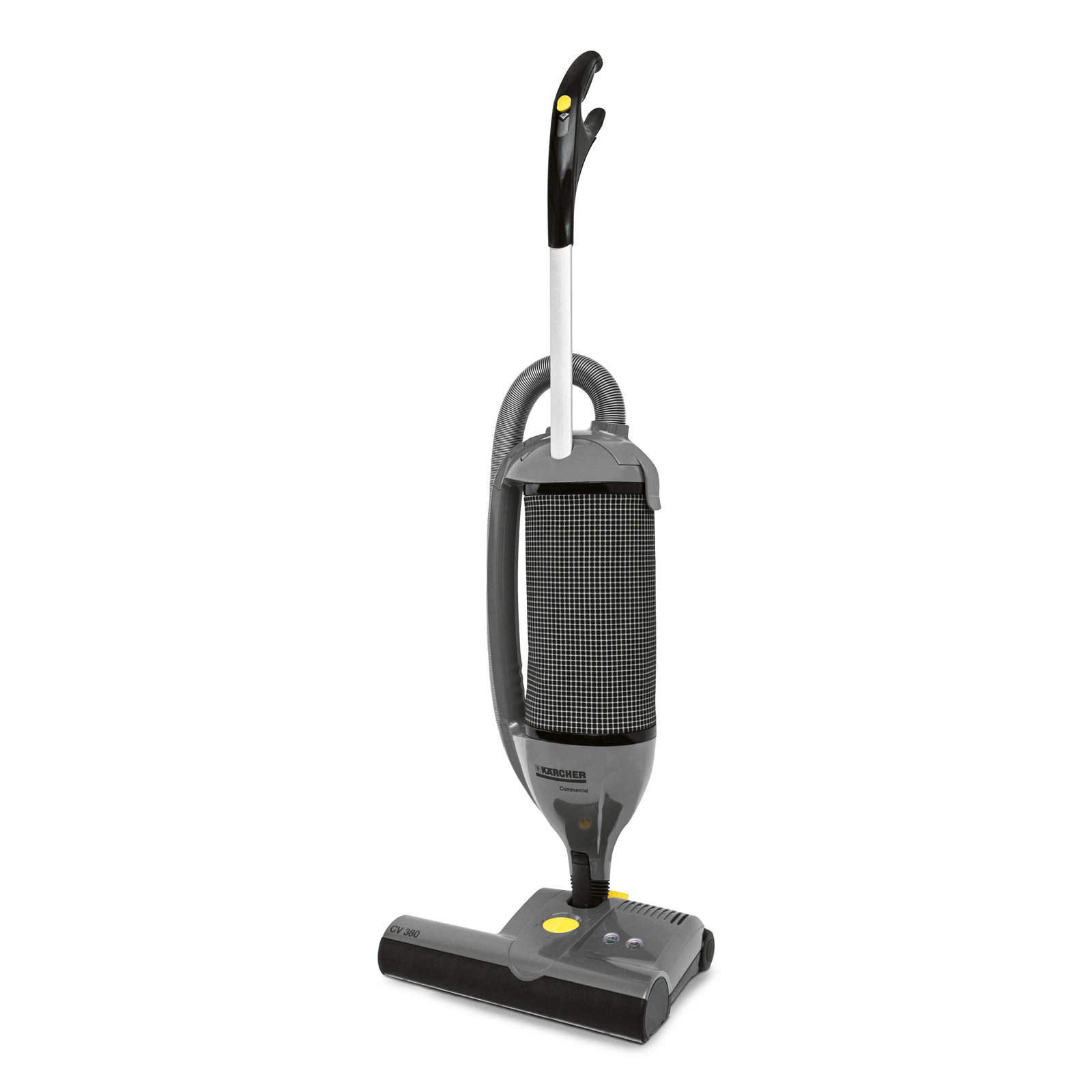 CV 380 10120600 https://www.kaercher.com/us/professional/commercial-vacuums/ upright-commercial-vacuums/cv-380-10120600.html Kärcher's CV dual-motor  upright ...
