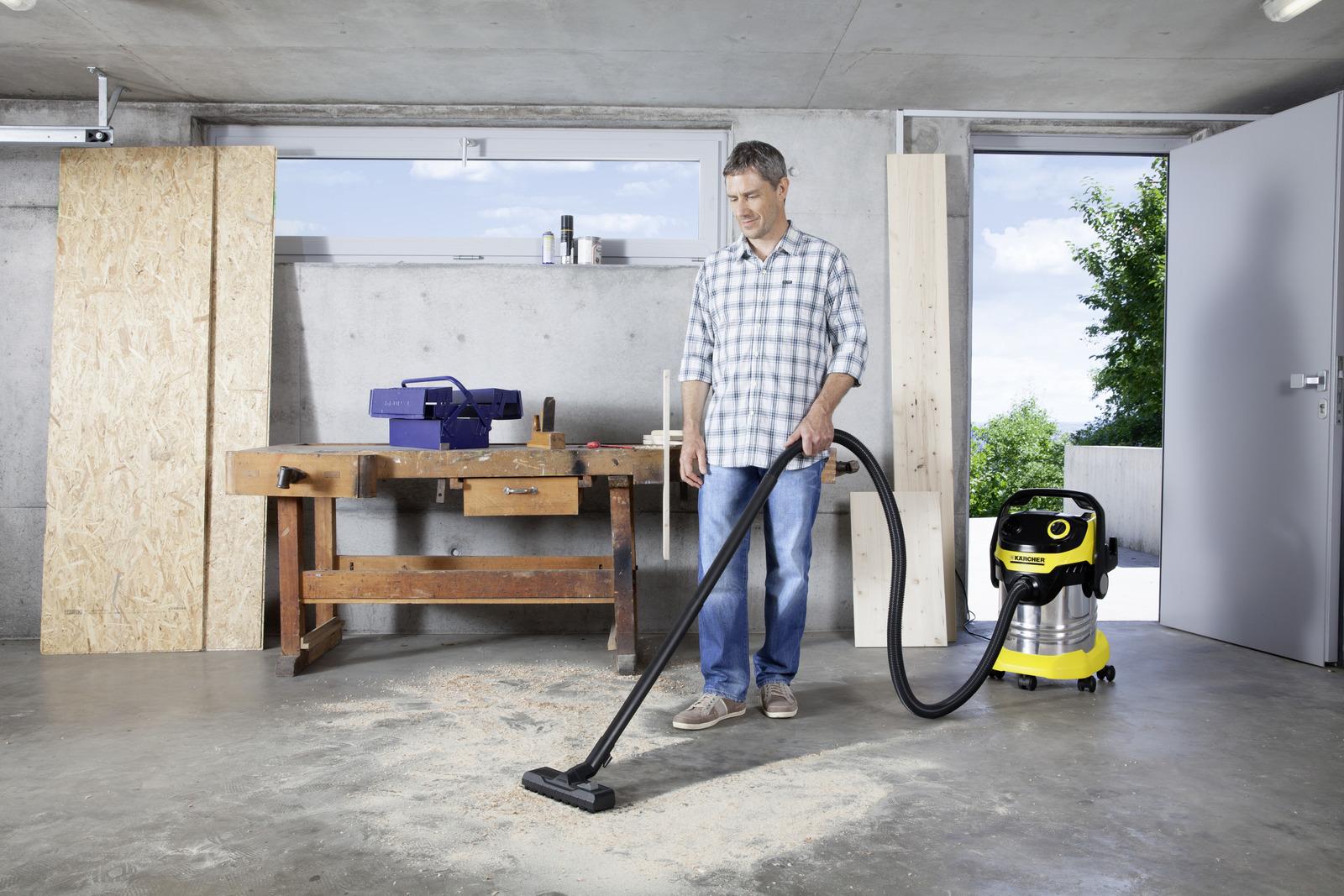 влажная уборка строительным пылесосом