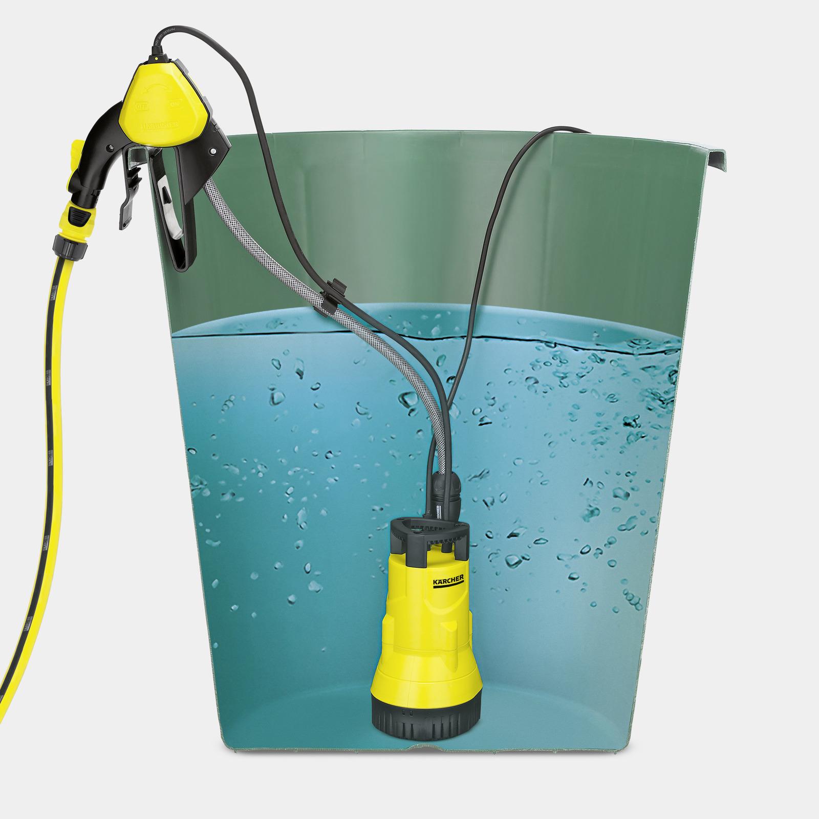 Pompe pour r cup rateur d 39 eau de pluie bp 1 barrel k rcher for Pompe pour mare