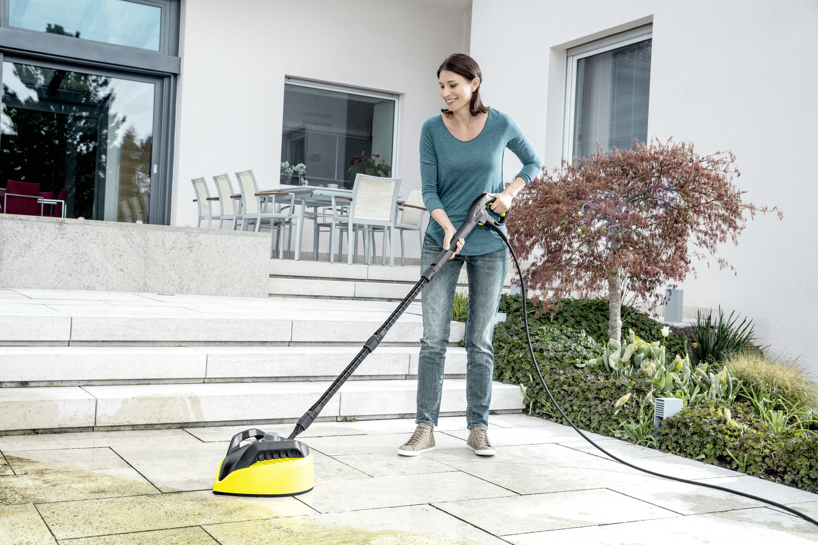 how to connect karcher patio cleaner