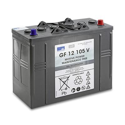Bateria de tracção isento de manutenção, 12 V, 105 Ah, não precisa de manutenção