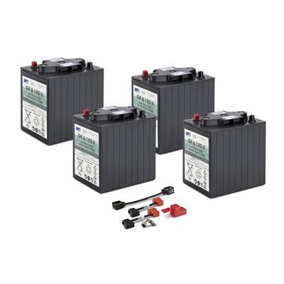 Conjunto de baterias, 24 V, 180 Ah, não precisa de manutenção