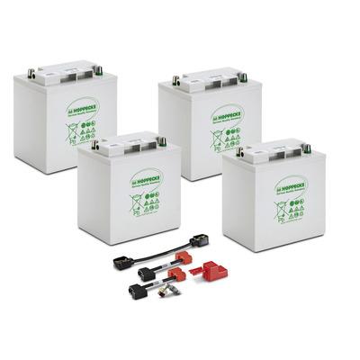 Conjunto de baterias, 24 V, 170 Ah, não precisa de manutenção