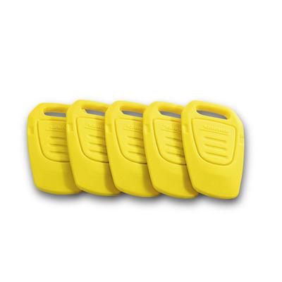 Conjunto de chaves amarelas RFID