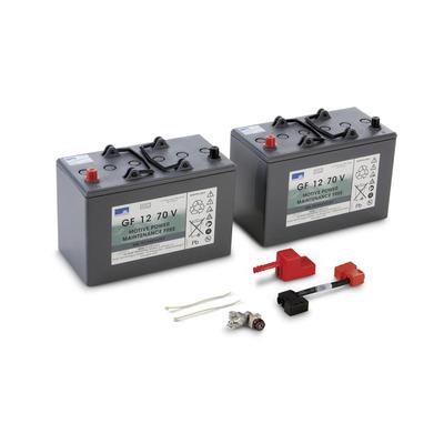 Conjunto de baterias, 24 V, 76 Ah, não precisa de manutenção