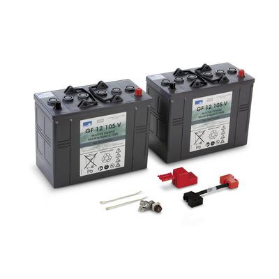 Conjunto de baterias, 24 V, 105 Ah, não precisa de manutenção