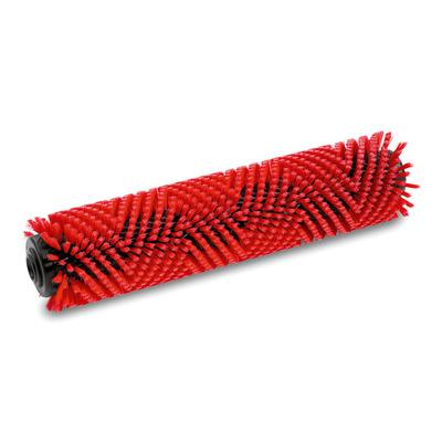 Escova cilíndrica, medio, vermelho, 350 mm