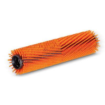 Escova cilíndrica, alto/profundo, laranja, 350 mm