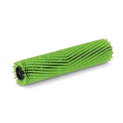 Escova cilíndrica, semi-duro, verde, 400 mm