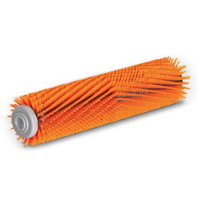Escova cilíndrica, alto/profundo, laranja, 550 mm