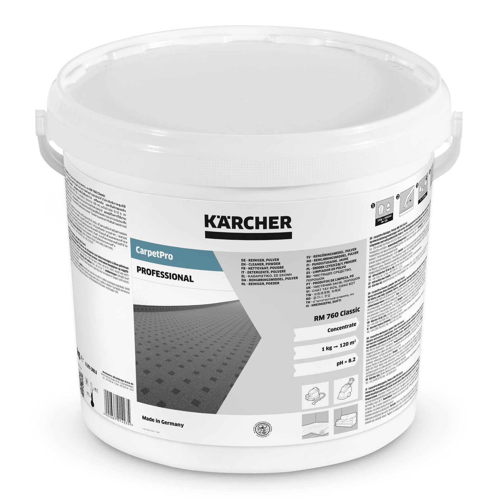 Carpetpro Detergente En Polvo Rm 760 Classic 10 Kg K Rcher ~ Productos Para Limpiar Alfombras En Seco