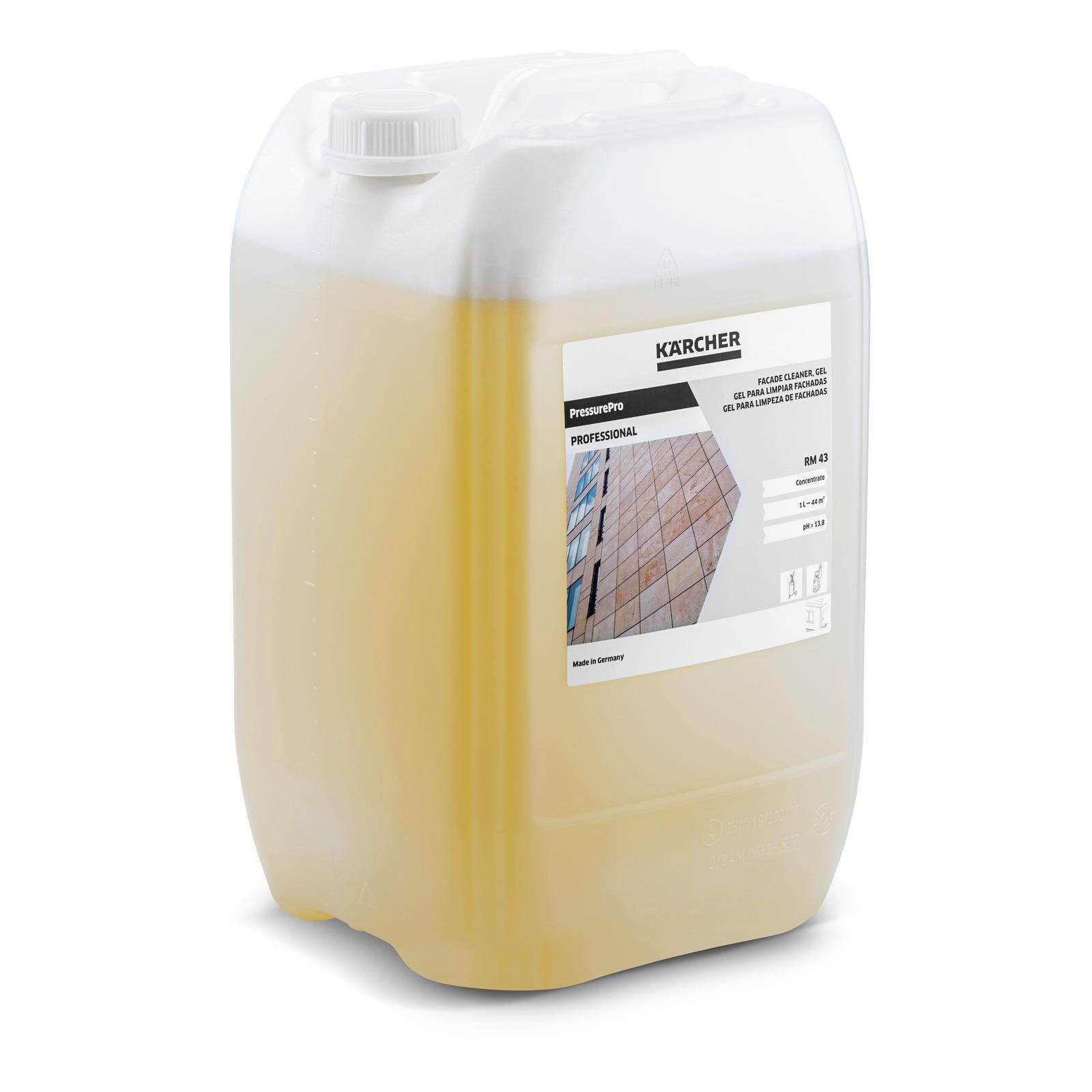 D tergent pour fa ades pressurepro gel rm 43 20l k rcher for Gel a depolir le verre