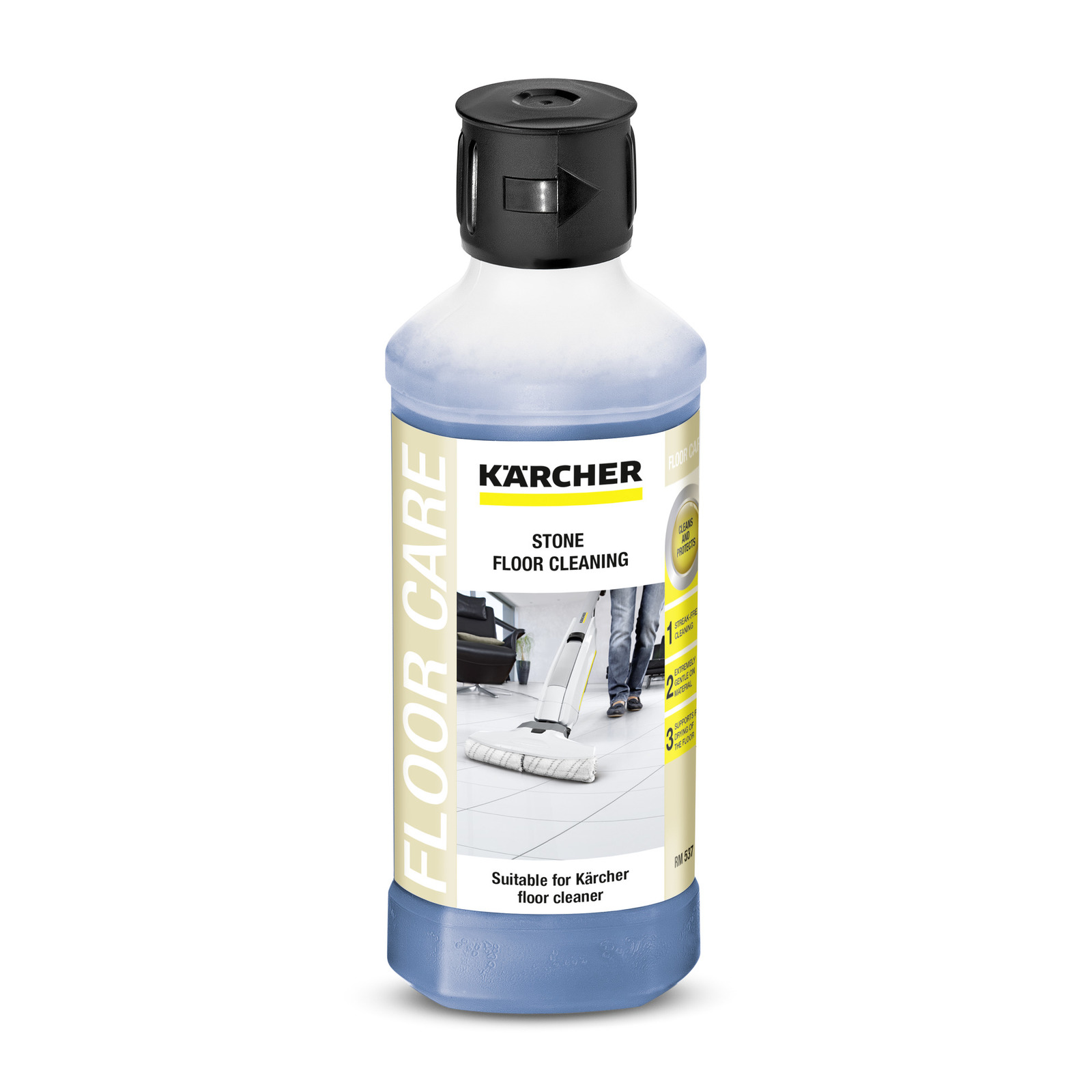 Stone Floor Detergent Rm537 500 Ml Krcher Uk Fuel Filters Gives You A Streak Free Results On Tiles And Natural Effectively Gently Removes Run Marks Is Also Suitable