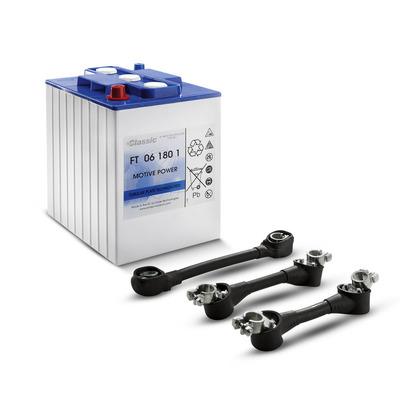 Conjunto de baterias, 24 V, 180 Ah, falta de manutenção
